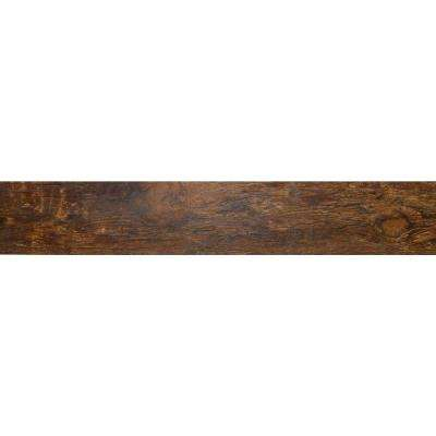Redwood Mahogany 6 in. x 24 in. Glazed Porcelain Floor and Wall Tile (9.69 sq. ft. / case)