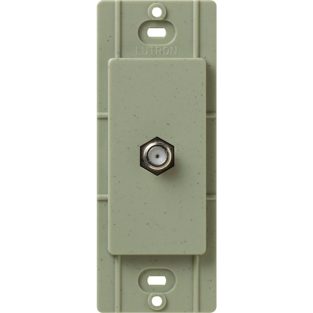 Lutron Satin Colors Coaxial Cable Jack - Greenbriar