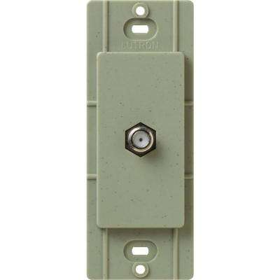 Satin Colors Coaxial Cable Jack - Greenbriar