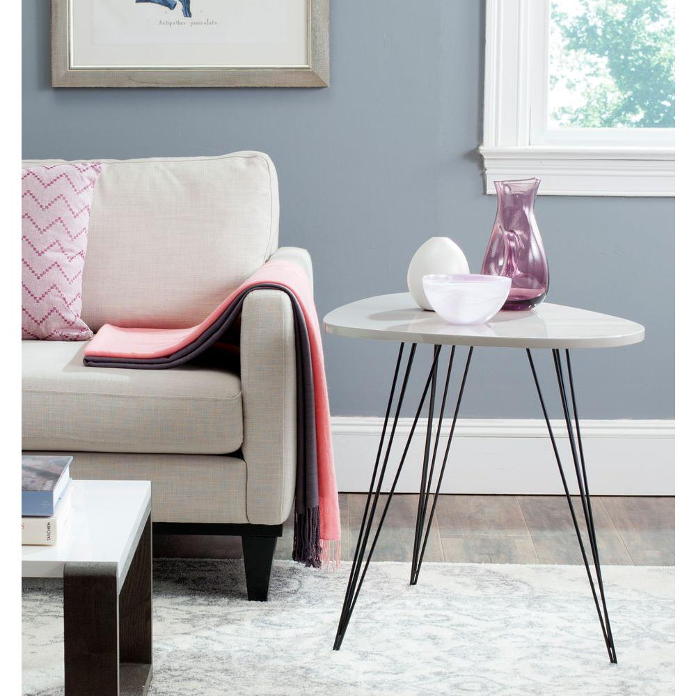 Wynton Taupe and Black Storage End Table