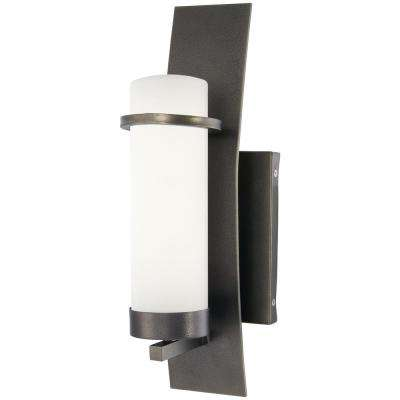 Arcus Truth 1-Light Smoked Iron Outdoor Wall Mount Sconce