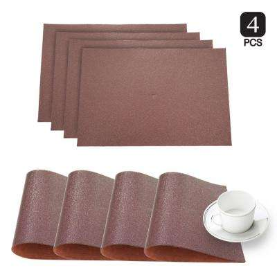 Pebble Bronze Faux Leather Placemat (Set of 4)