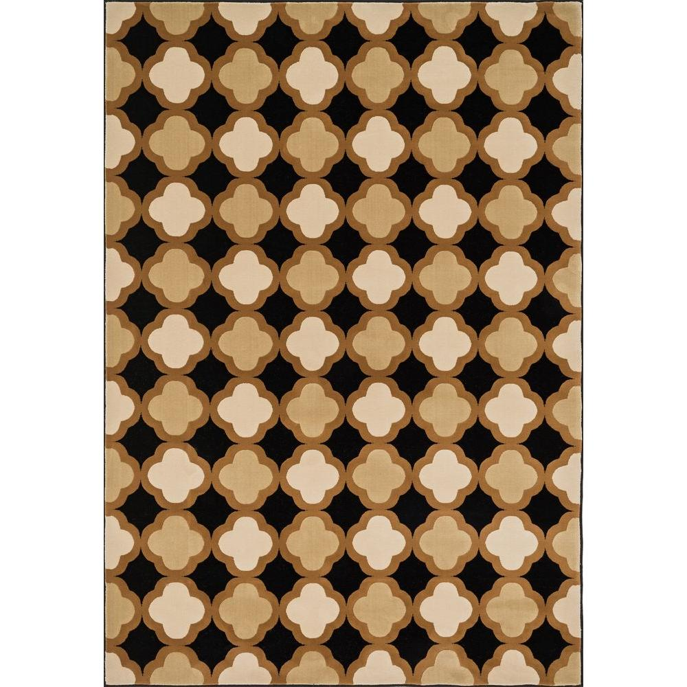 Loloi Rugs Shelton Lifestyle Collection Black/Camel 2 ft. 3 in. x 3 ft. 9 in. Area Rug