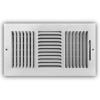 12 in. x 6 in. 3-Way Wall/Ceiling Register