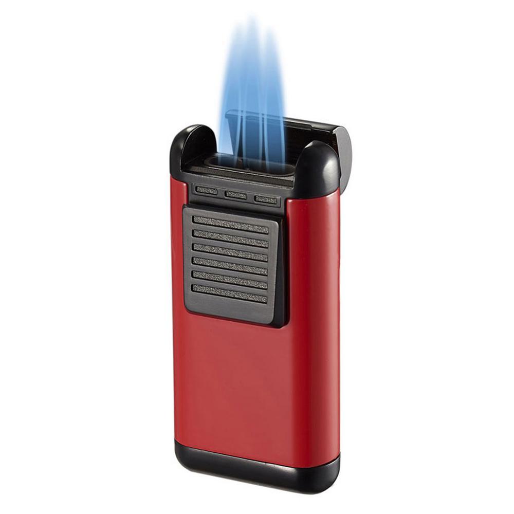 Visol Antero Red Lacquer Triple Torch Cigar Lighter Deals