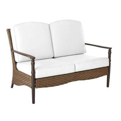 Bolingbrook Wicker Outdoor Loveseat with Cushion Inserts (Slipcovers Sold Separately)