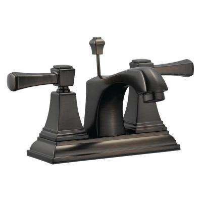 Torino 4 in. Centerset 2-Handle Bathroom Faucet in Brushed Bronze