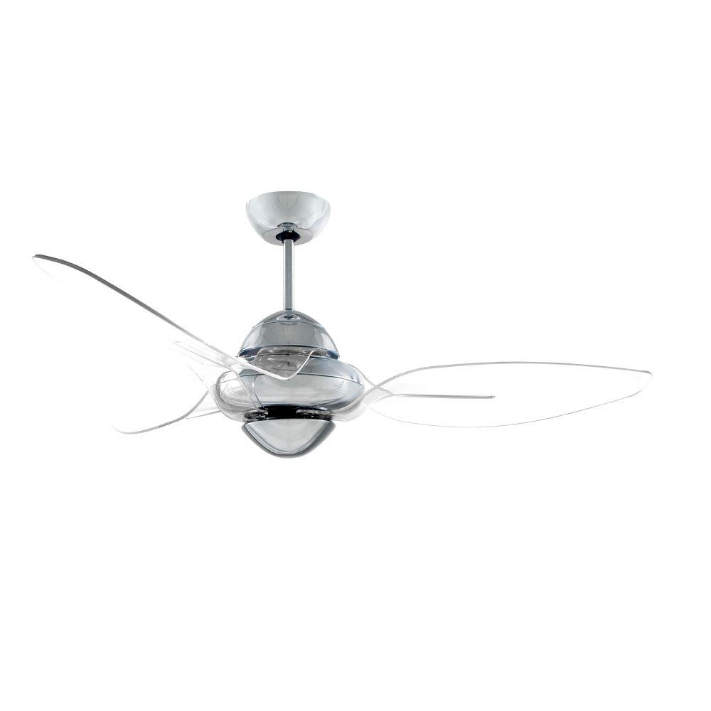 indoor chrome ceiling fan with  translucent black bladesn  thehome depot. vento clover  in indoor chrome ceiling fan with  translucent