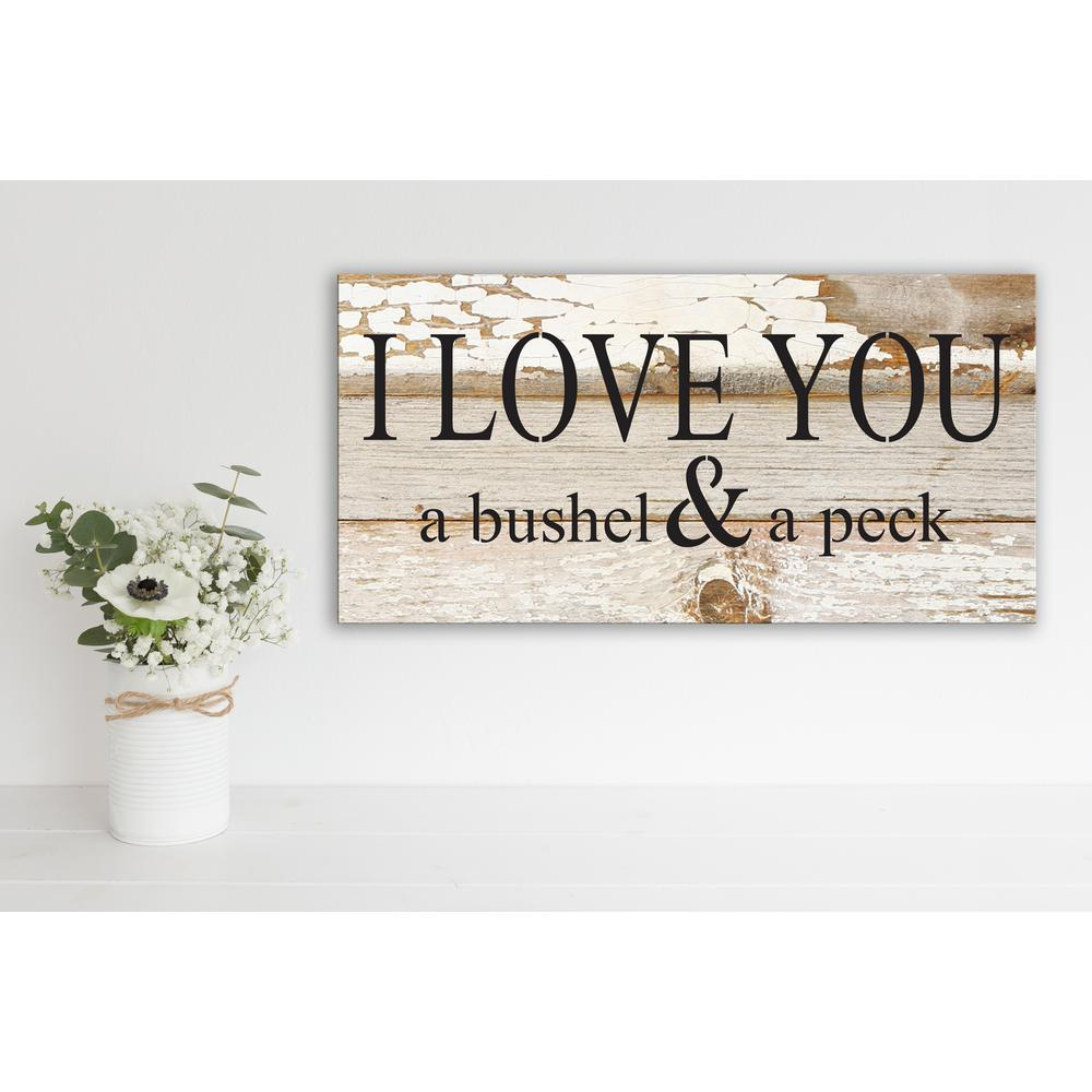 I LOVE YOU A BUSHEL & A PECK Reclaimed Wood Decorative Sign ...