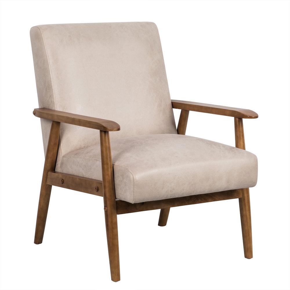Charles Light Camel Classic Mid-Century Modern Chair