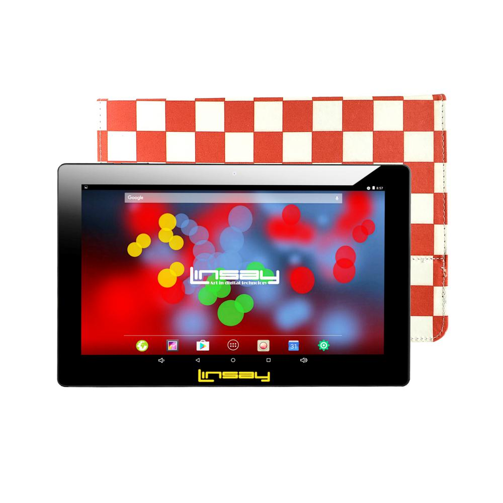 LINSAY 10.1 in. 1280x800 IPS 2GB RAM 16GB Android 9.0 Pie Tablet with Red Square Case was $324.99 now $79.99 (75.0% off)