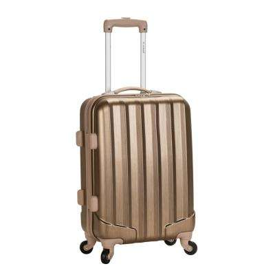 Metallic 20 in. Expandable Carry On Hardside Spinner Luggage, Bronze