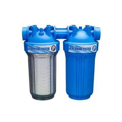5 GPM 10 in. Whole House Chlorine Filtration Water Dispenser Filtration System