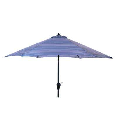 9 ft. Aluminum Market Tilt Patio Umbrella in Charleston Stripe