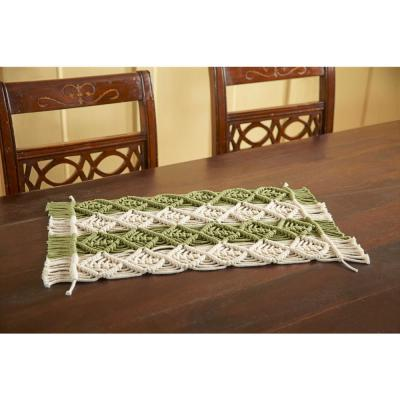 12 in. x 18 in. Two Tone Sage/Ivory Placemat