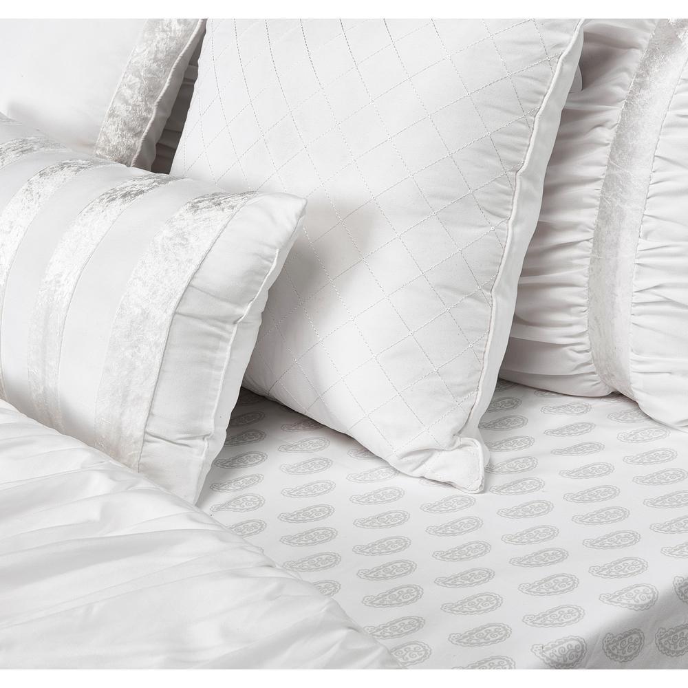 Francis 10-Piece White Queen Comforter Set