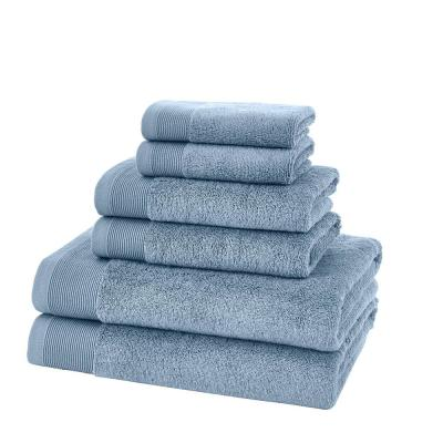 Performance Quick Dry 6-Piece Towel Set in Washed Denim