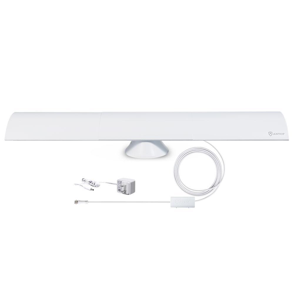 Antop Clear View Bar Smartpass Amplified Indoor HD TV Antenna with 4G LTE  Filter