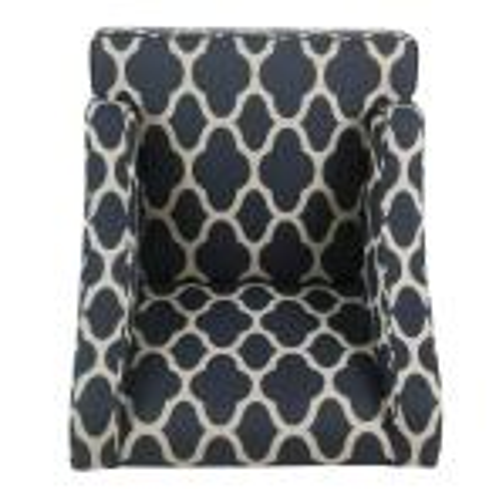 Homepop Geometric Navy Classic Swoop Arm Chair