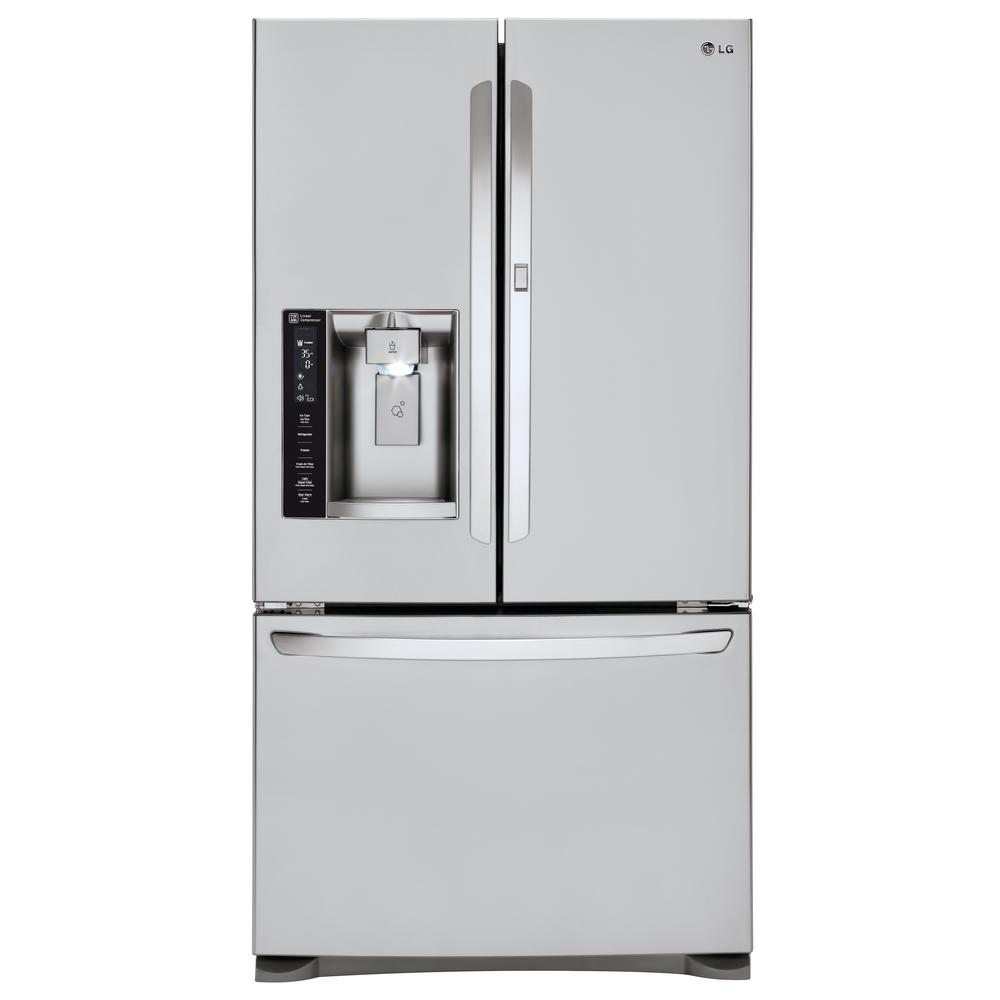 LG Electronics LG Electronics 26.6 cu. ft. French Door Refrigerator with Door-in-Door in Stainless Steel, Silver