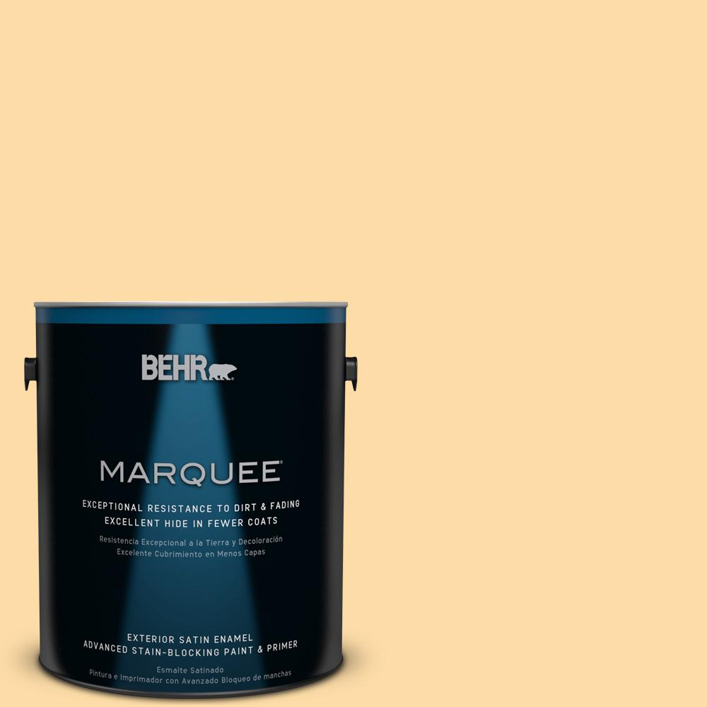 BEHR MARQUEE 1-gal. #300A-3 Melted Butter Satin Enamel Exterior Paint