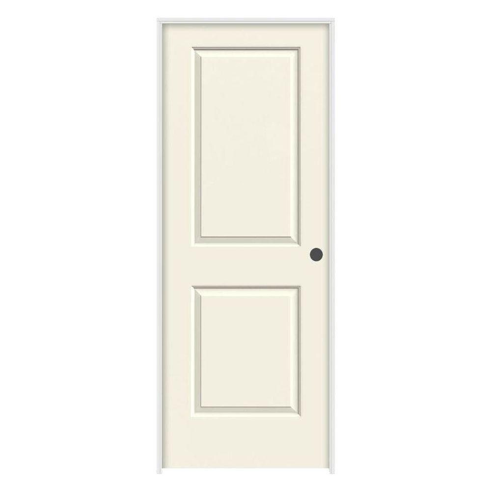 36 in. x 80 in. Cambridge Vanilla Painted Left-Hand Smooth Solid