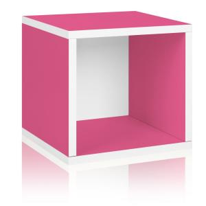 13 in. H x 13 in. W x 11 in. D Pink Recycled Materials 1-Cube Storage Organizer