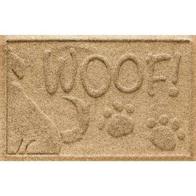 Gold 18 in. x 28 in. Wag the Dog Polypropylene Pet Mat