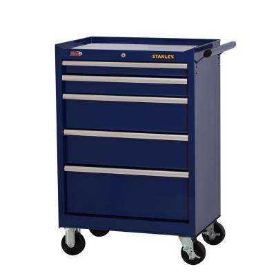 27 in. W 5-Drawer Tool Cabinet, Blue