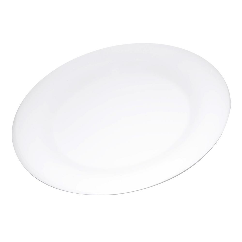 Carlisle Durus 10.5 in. White Melamine Wide Rim Dinner Plate (12-Pack)