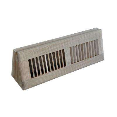 15 in. Wood Oak Baseboard Unfinished Diffuser