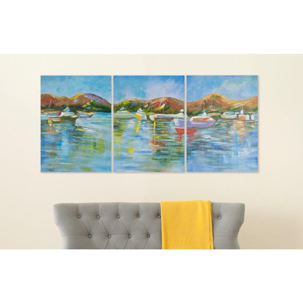 "27 in. x 20 in. ""Sailors Cove"" Wall Art"