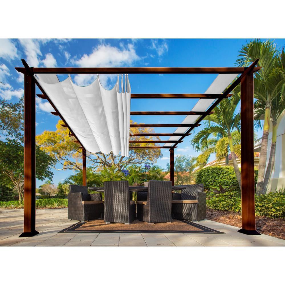pergola aluminum, paragon 11 ft. x 11 ft. aluminum pergola with the look of chilean, Design ideen