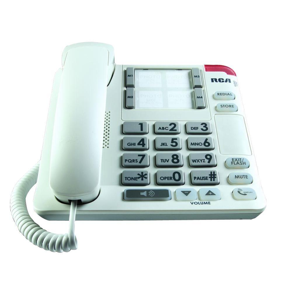 Amplified Big Button Picture Corded Phone System