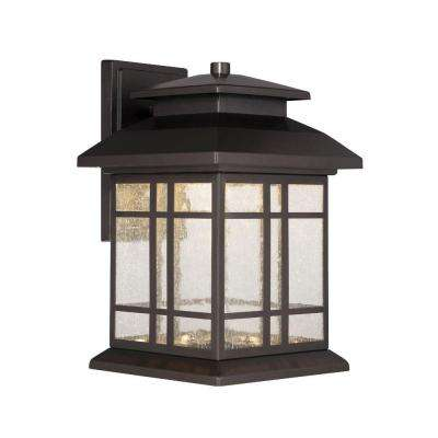 Piedmont Oil Rubbed Bronze Outdoor LED Wall Lantern  sc 1 st  Home Depot & Integrated LED - Sconces - Lighting - The Home Depot