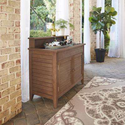 Laguna Wood Outdoor Serving Bar With Sink