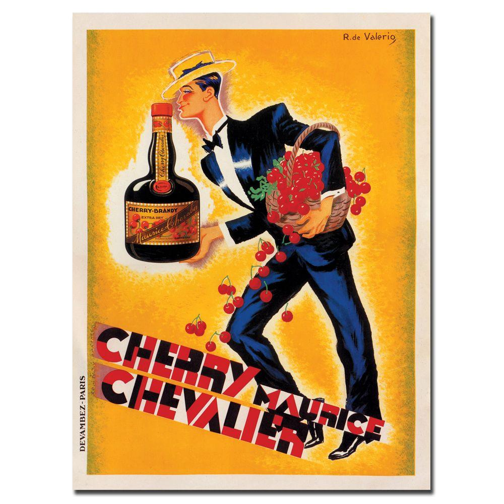 48 in. x 36 in. Cherry Maurice Chevalier by Roger De