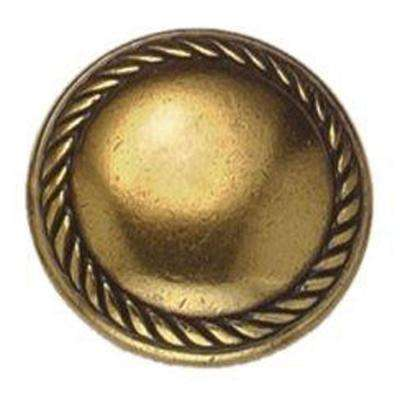 Louis XVI 1.18 in. Antique Brass Distressed Knob