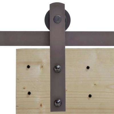 36 in. x 84 in.  Unfinished Solid Core Plank Knotty Pine Barn Door with Sliding Door Hardware Kit