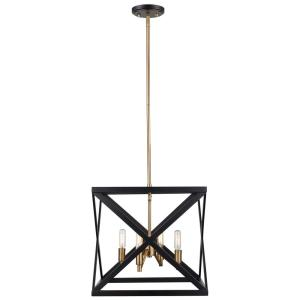 Bel Air Lighting Ackerman 4-Light Rubbed Oil Bronze