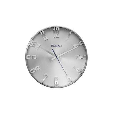 16 in. H x 16 in. W Wall Clock with Slimline Metal Case