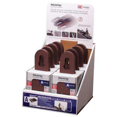 10 in. Powder Coated Brown Hitch Clip Roof Anchor System (24-Piece per Box)