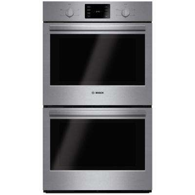 500 Series 30 in. Double Electric Wall Oven Self Cleaning in Stainless Steel