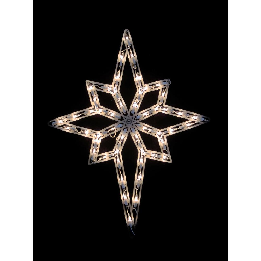 18 in. Christmas Lighted Star of Bethlehem Window Silhouette Decoration (4-Pack)