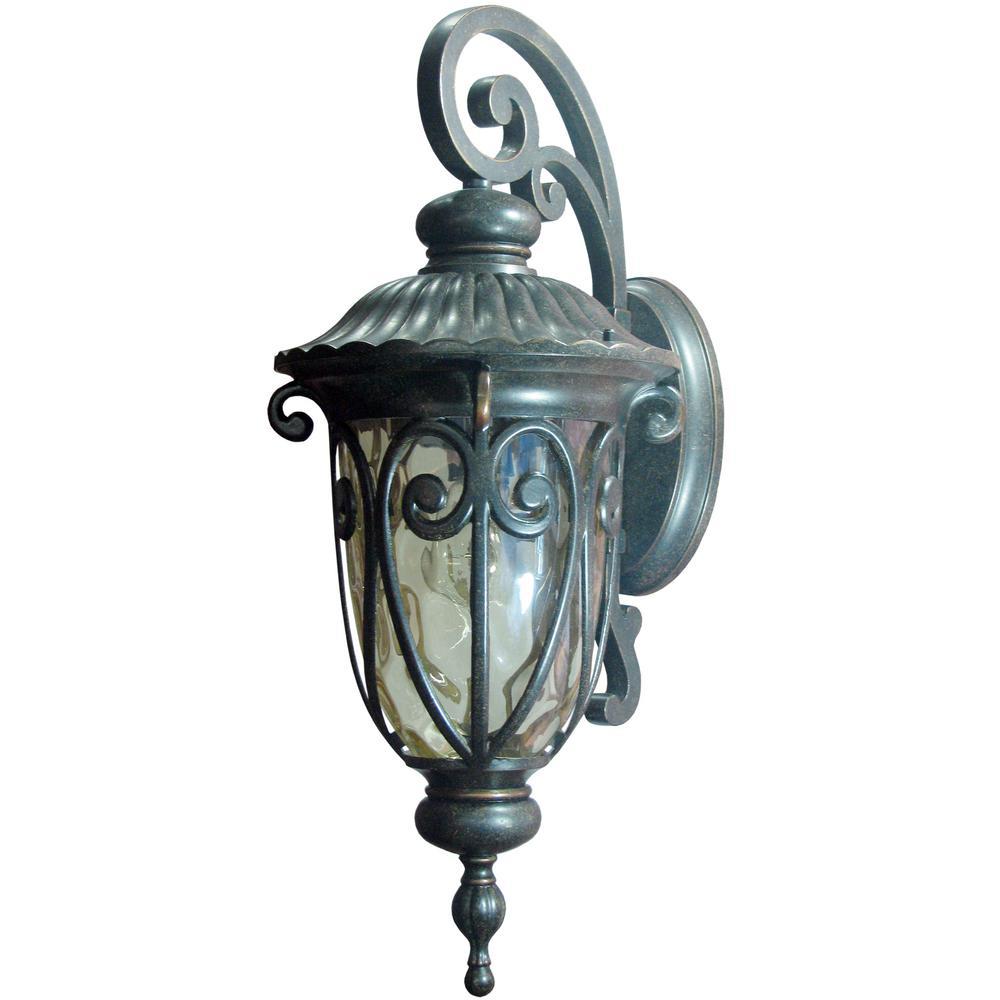 Hailee 1-Light Oil-Rubbed Bronze Outdoor Wall Mount Lantern