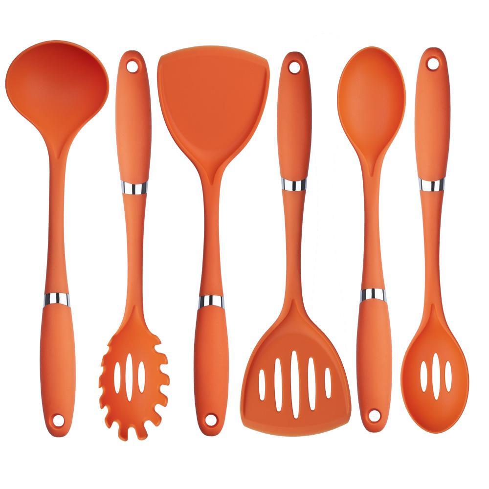 6-Piece Nylon Utensil Set in Orange