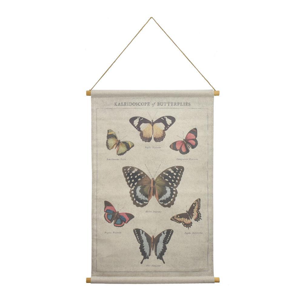 Butterflies Hanging Linen Tapestry