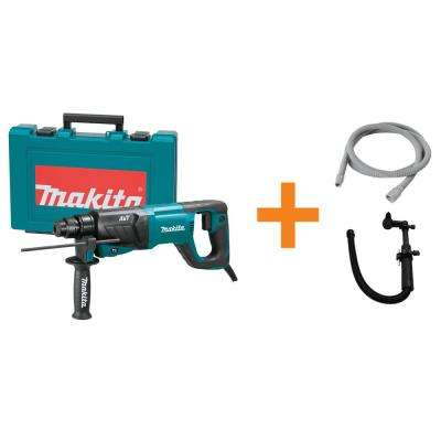 8 Amp 1 in. Corded SDS-Plus Concrete/Masonry AVT Rotary Hammer Drill w/ Vacuum Hose, SDS-Plus Dust Collection Attachment