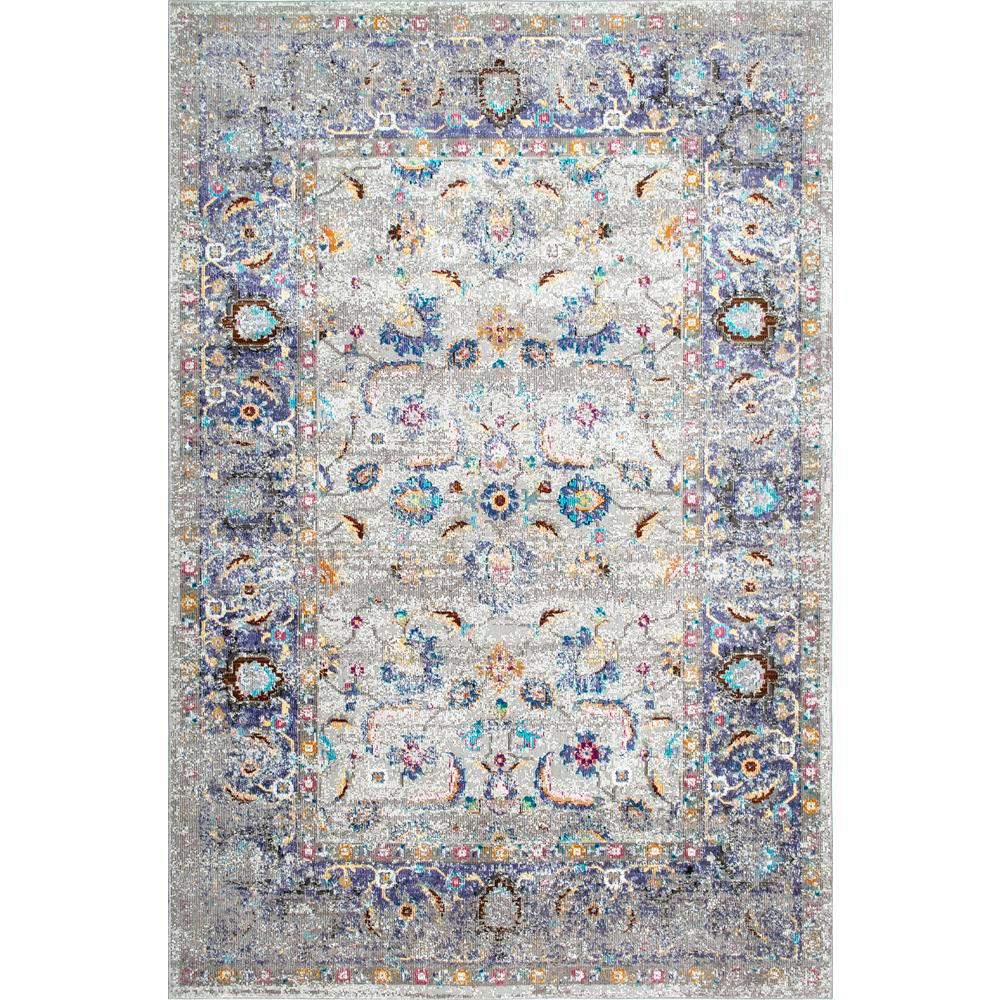 Nuloom Verona Grey 5 Ft X 7 Ft 5 In Area Rug Rzbd07b