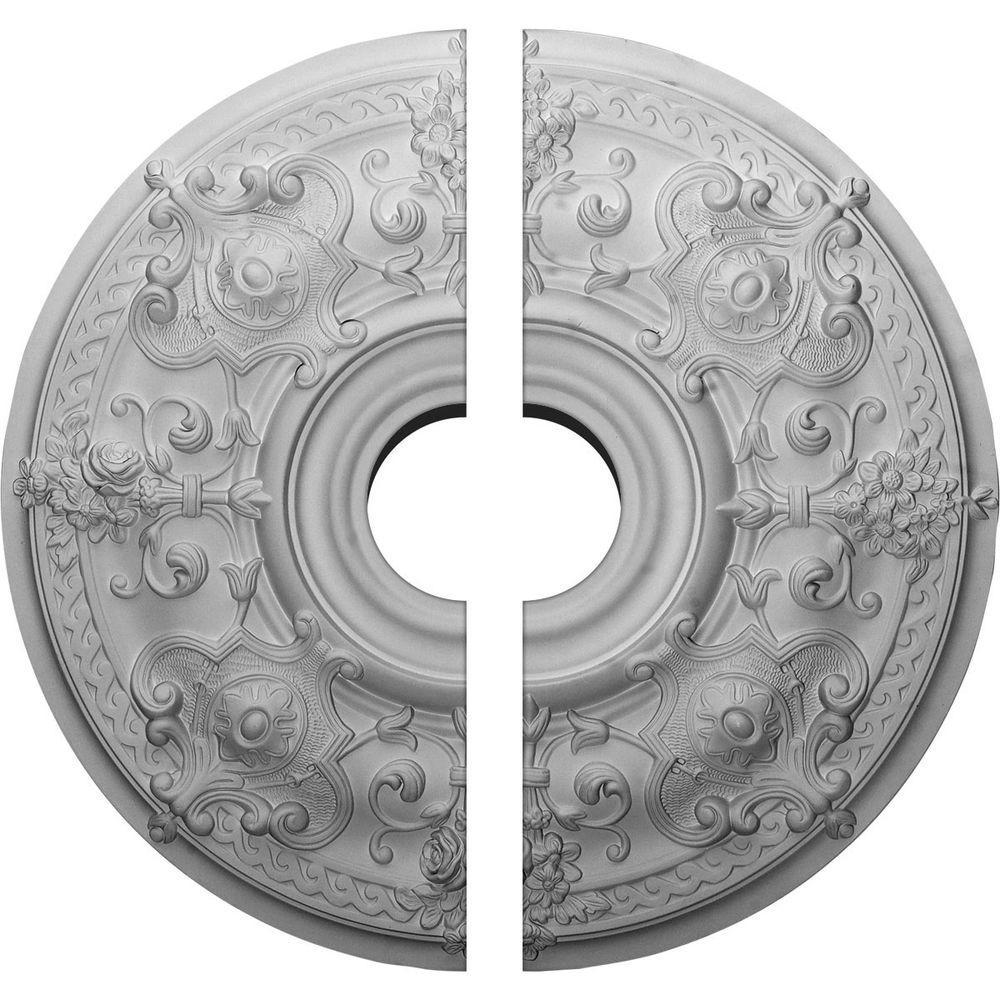 28-1/8 in. O.D. x 6 in. I.D. x 1-3/4 in. P Oslo Ceiling Medallion (2-Piece)